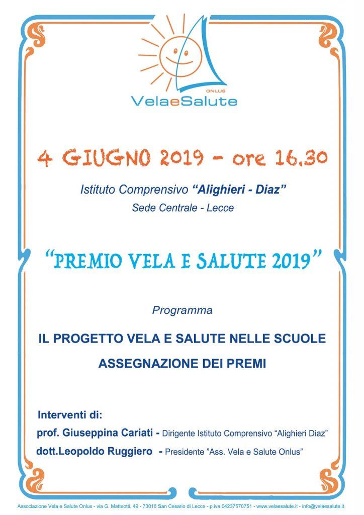 Premiazione progetto Vela e Salute 2019